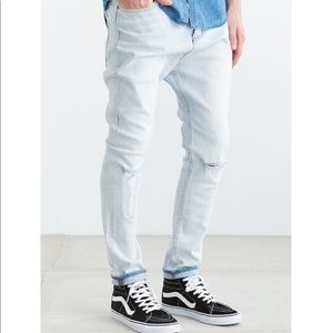 *SOLD* Zanerobe Blonde Ripped Low Blow Jeans